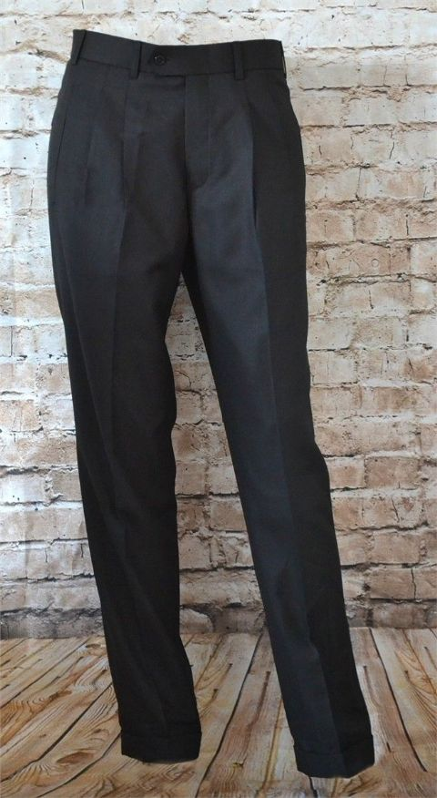BLACK NORTHERN SOUL PEG FRONT TROUSERS